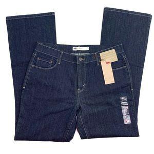 Levi's Womens 515 Dark Blue Wash Bootcut Jeans NWT